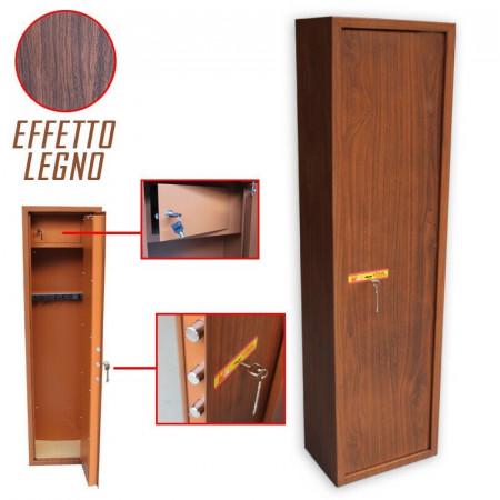ARMADIO PORTAFUCILI FUCILIERA UTILIA 8 P posti legno con tesoretto