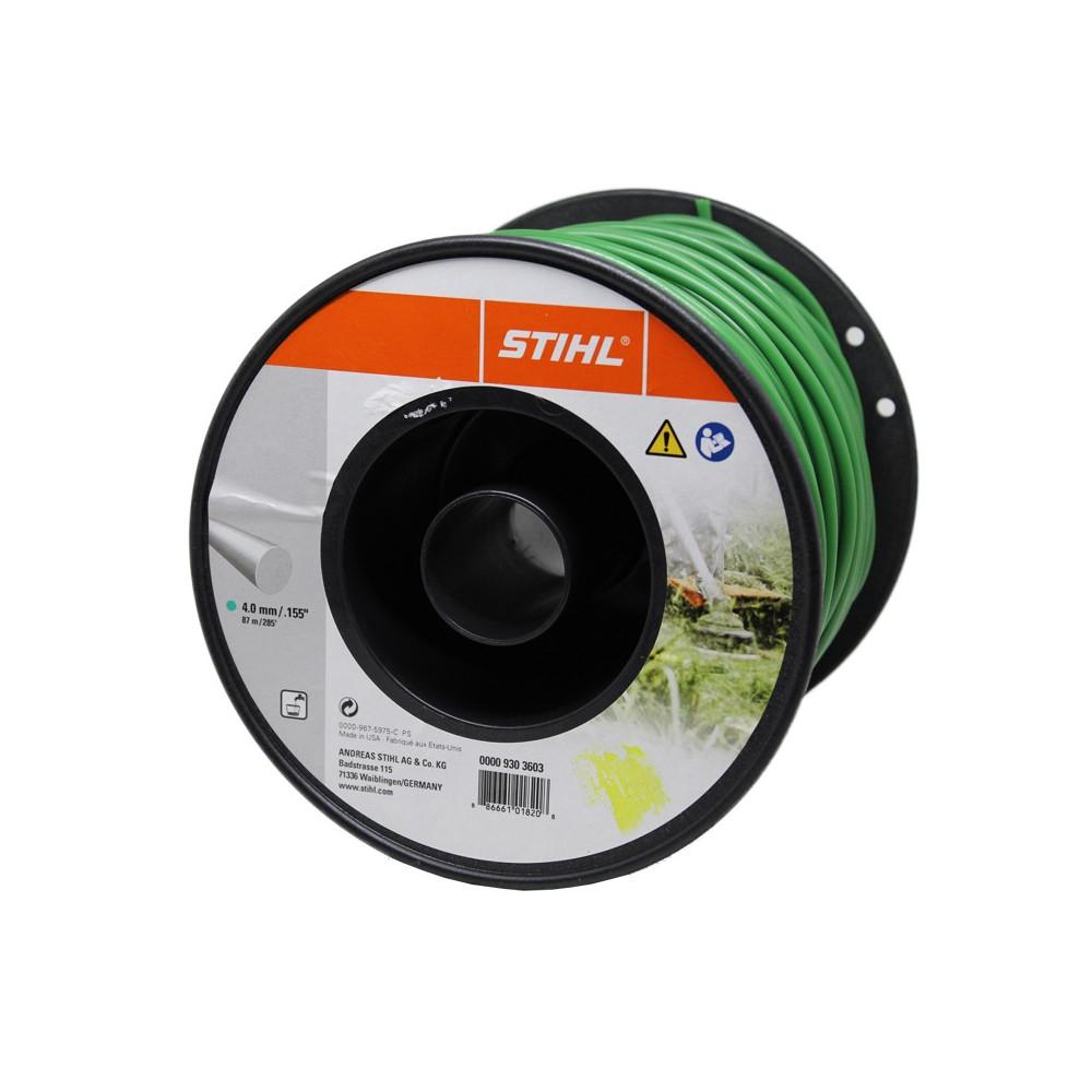 FILO NYLON STIHL TONDO VERDE    4,0 X 87