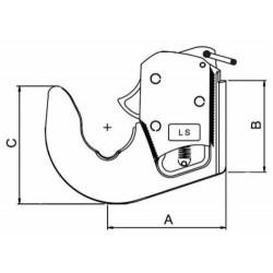 GANCIO RAPIDO INFERIORE CATEGORIA 1 PER sollevatore trattore bracci idraulici
