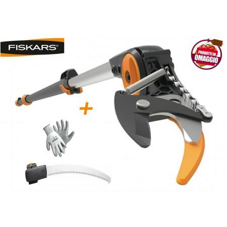SVETTATOIO TELESCOPICO FISKARS UPX86 ASTA 240/400 CM TAGLIO 32 MM + SEGHETTO