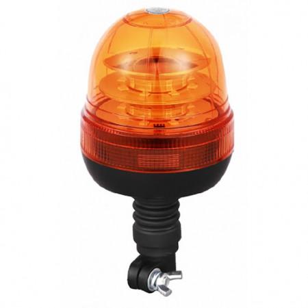 GIROFARO LAMPEGGIANTE A LED CON BASE FLESSIBILE A IMBUTO 16 LEDX3W 12-24V