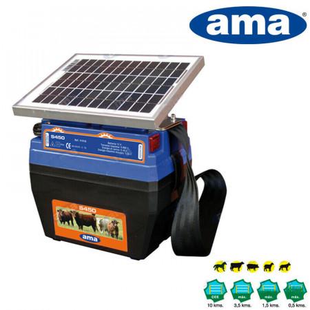 ELETTRIFICATORE AMA S450 CON PANELLO SOLARE E BATTERIA RICARICABILE MAX 3,5 KM