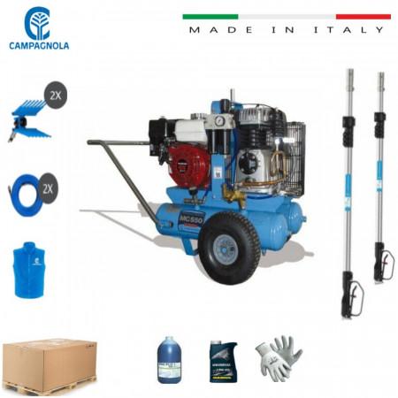 KIT MOTOCOMPRESSORE CAMPAGNOLA MC 550 HONDA GX 200 COMPLETO DI ACCESSORI