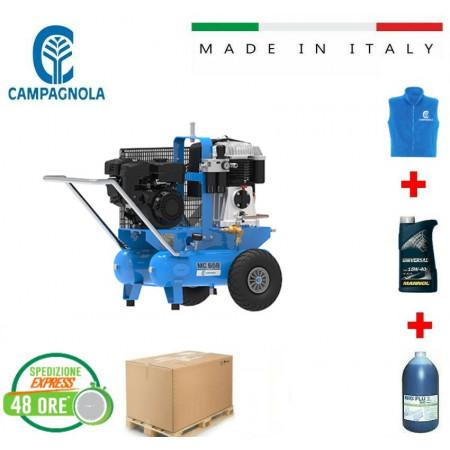 MOTOCOMPRESSORE CAMPAGNOLA MC 658 CON MOTORE A BENZINA 7 HP + OMAGGI