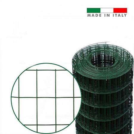 RETE METALLICA PLASTIFICATA ELETTROSALDA TA PER RECINZIONE MAGLIA 50X75