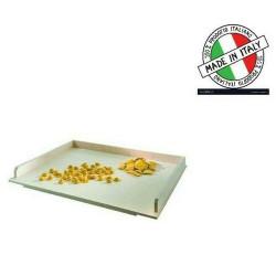 TAVOLIERE ASSE DA PASTA CON BORDO IN LEGNO MULTISTRATO 65X50 CM MADE IN ITALY